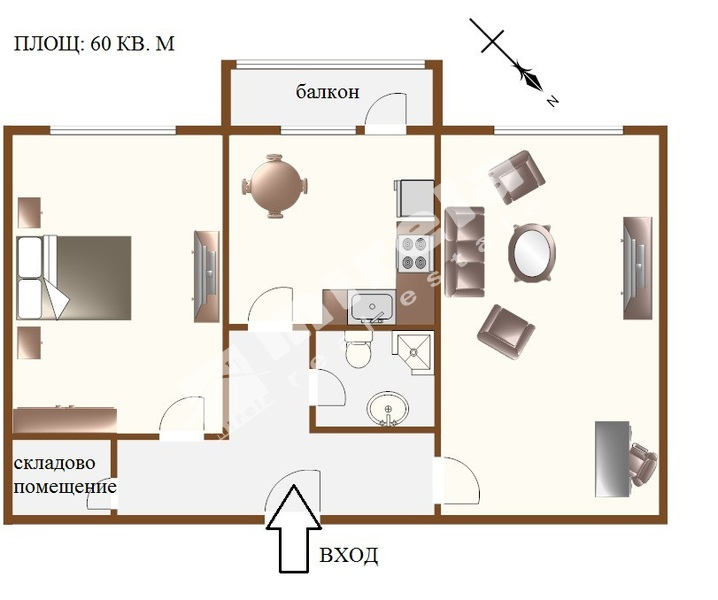For Sale 1 Bedroom City Of Sofia Lyulin 1 60 Sq M