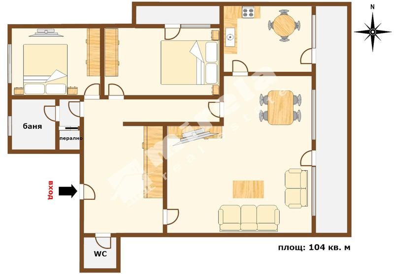 For Rent 2 Bedrooms City Of Varna Sports Hall 104 Sq M