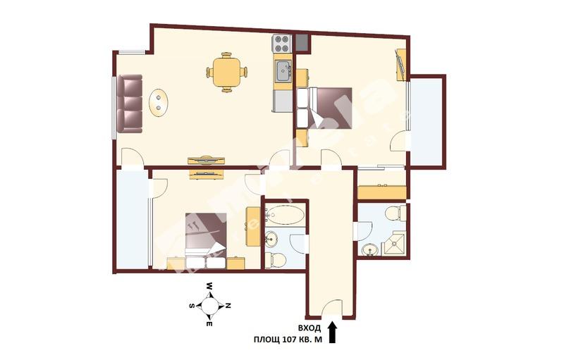 For Sale 2 Bedrooms City Of Sofia Krastova Vada 107 Sq M