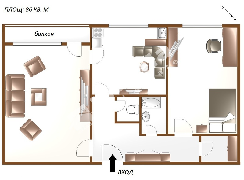 For Sale 1 Bedroom City Of Sofia Zona B 19 86 Sq M