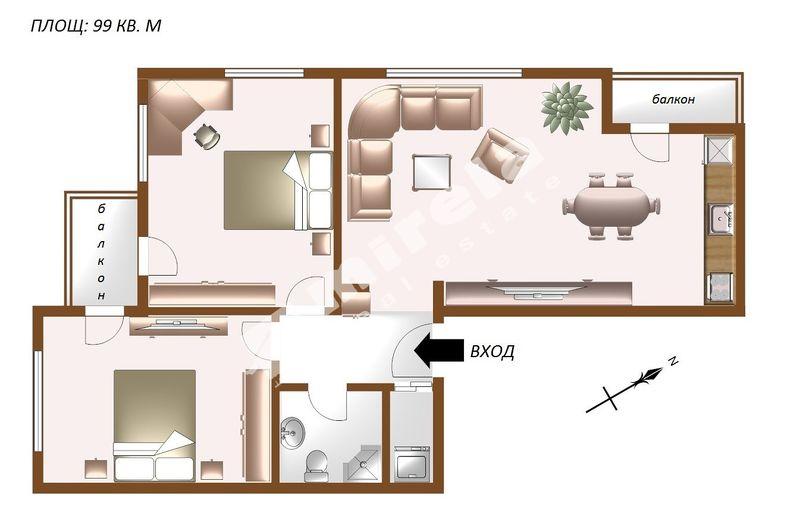 For Sale 2 Bedrooms City Of Sofia Krastova Vada 99 Sq M