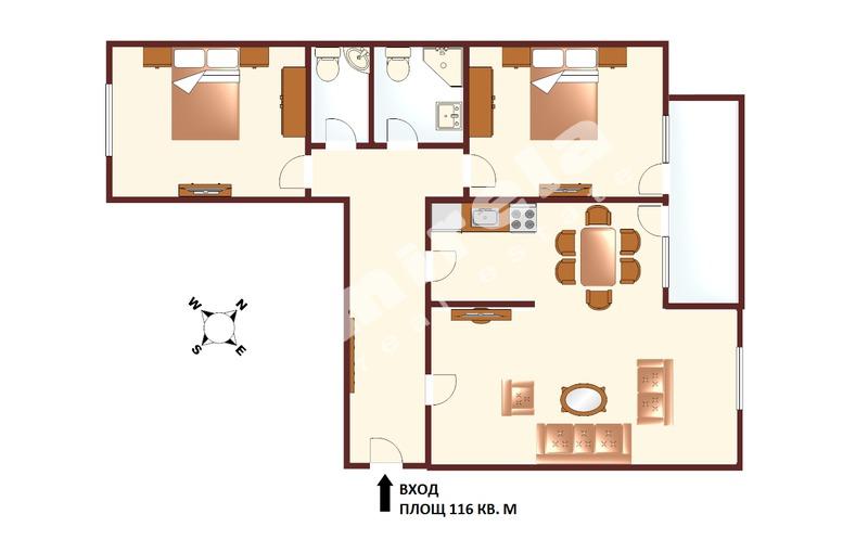 For Sale 2 Bedrooms City Of Sofia Strelbishte 116 Sq M