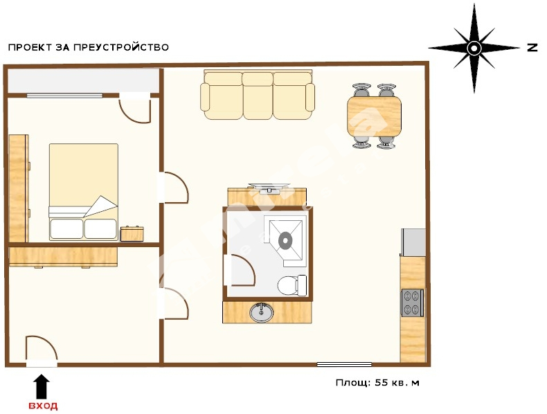 For Sale Studios City Of Varna Zk Trakia 55 Sq M