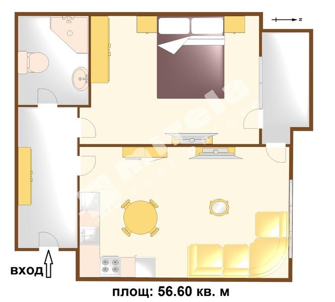 For Sale 1 Bedroom Burgas Region Pomorie 56 6 Sq M