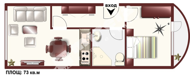 For Rent 1 Br Apartment City Of Sofia Lagera Tsar Boris