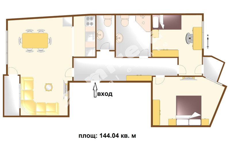 For Sale 2 Bedrooms City Of Bourgas Centre 144 04 Sq M