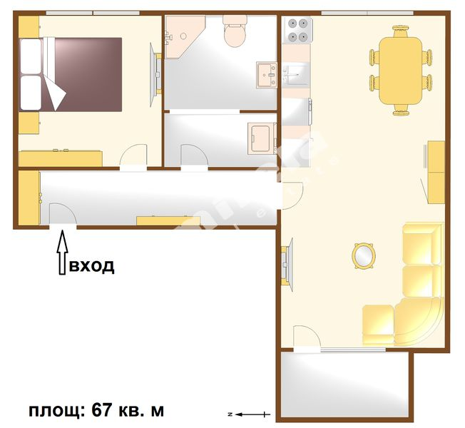 For Rent 1 Bedroom City Of Bourgas Vazrazhdane 67 Sq M