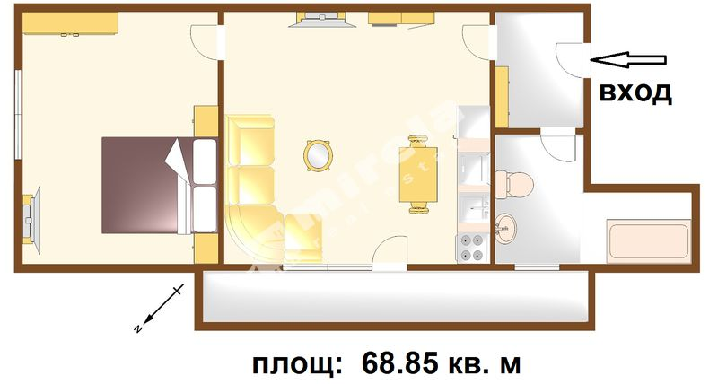 For Sale 1 Bedroom City Of Bourgas Centre 68 85 Sq M
