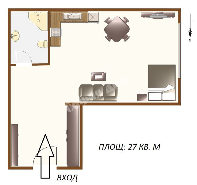 For Sale Studios City Of Sofia Oborishte 27 Sq M