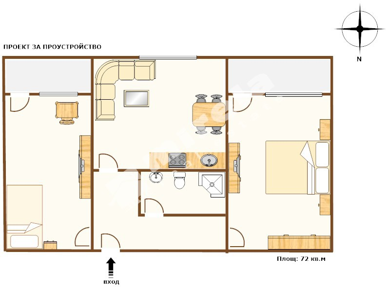 For Sale 1 Bedroom City Of Varna Vazrazhdane 3 72 Sq M