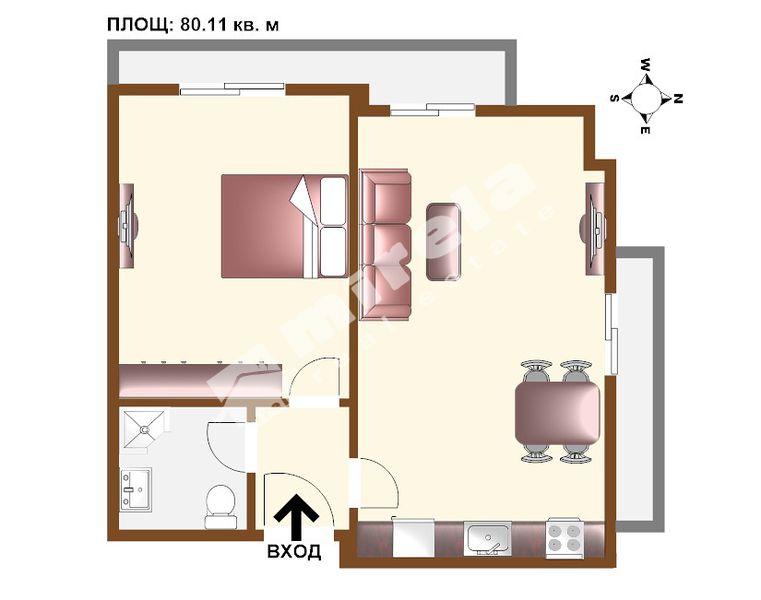 For Sale 1 Bedroom City Of Sofia Center 80 11 Sq M