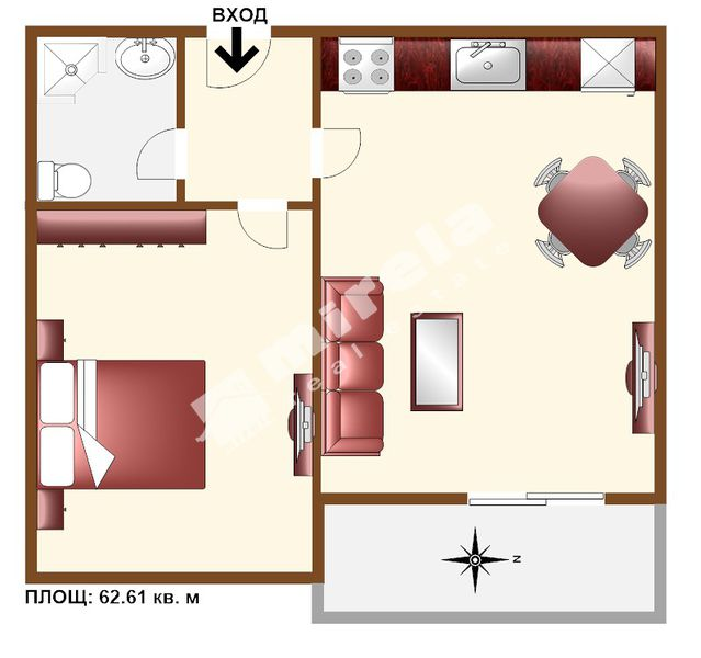 For Sale 1 Bedroom City Of Sofia Center 62 61 Sq M