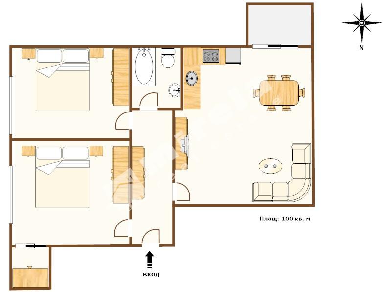 For Sale 2 Bedrooms City Of Varna Briz 100 Sq M
