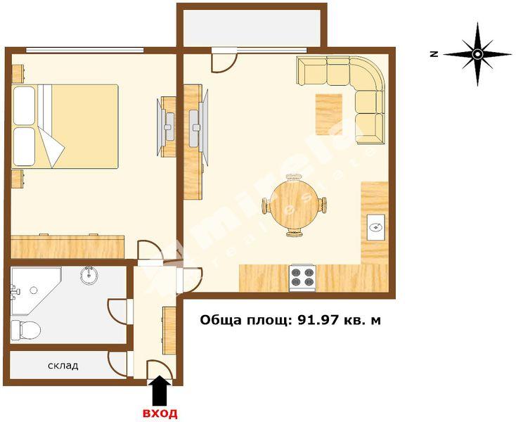 For Sale 1 Bedroom City Of Varna Vladislav Varnenchik