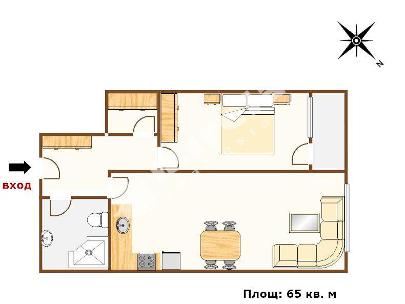 For Sale 1 Bedroom City Of Varna Vazrazhdane 1 65 Sq M
