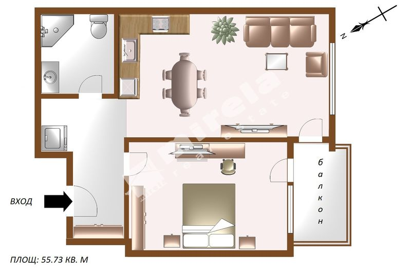 For Sale 1 Bedroom City Of Sofia Banishora 55 73 Sq M