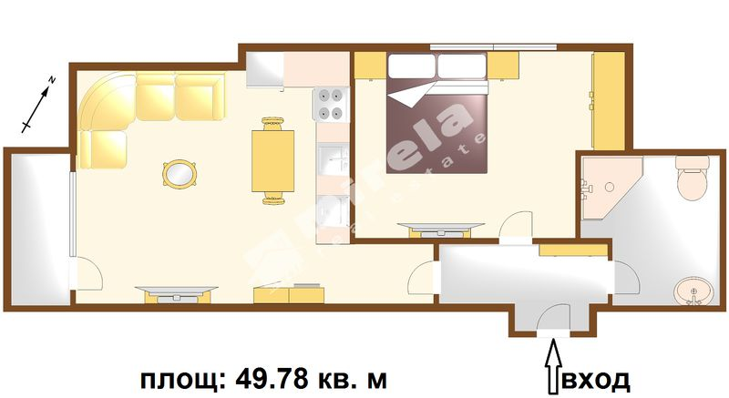 For Sale 1 Bedroom City Of Bourgas Lazur 49 78 Sq M