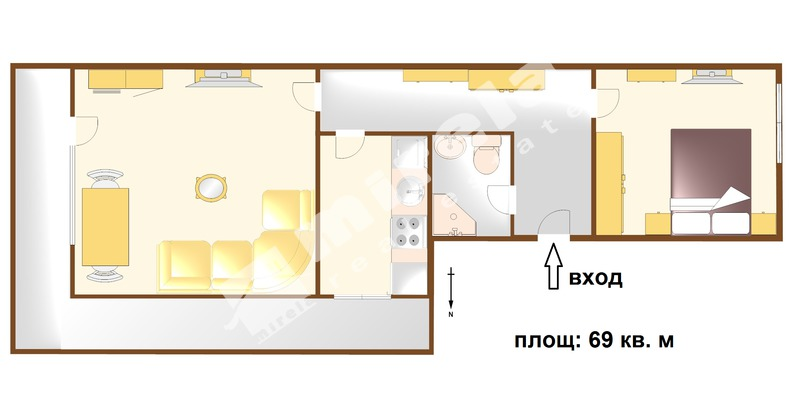 For Sale 1 Bedroom City Of Bourgas Zornica 69 Sq M