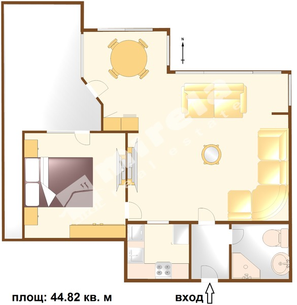 For Sale 1 Bedroom City Of Bourgas Centre 44 82 Sq M