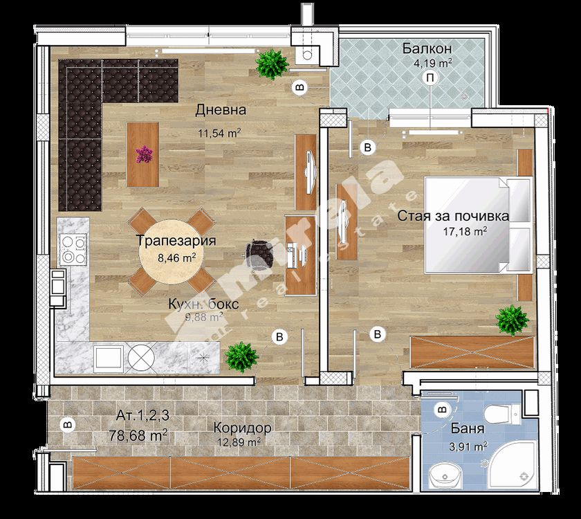 For Sale 1 Bedroom City Of Sofia Ovcha Kupel 89 01 Sq M